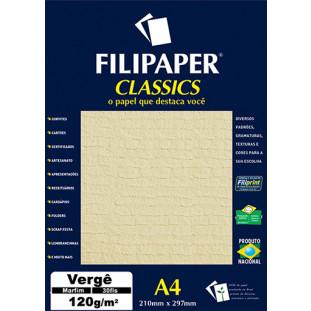 Filipaper Vergê 120g/m² (30 folhas; marfim) A4 - FRETE GRÁTIS - FP01879