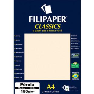 Filipaper CLASSICS PÉROLA MARFIM 180g/m² A4 20fls - FRETE GRÁTIS - FP01882