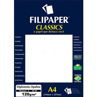 Filipaper Diplomata Opaline 120g/m² (30 folhas; branco) A4 - FRETE GRÁTIS - FP02061
