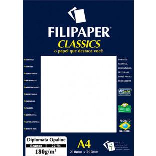 Filipaper Diplomata Opaline 180g/m² (20 folhas; branco) A4 - FRETE GRÁTIS - FP02062