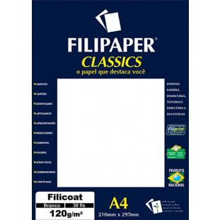 Filipaper Filicoat 120g/m² (30 folhas; branco) A4 - FRETE GRÁTIS - FP02063