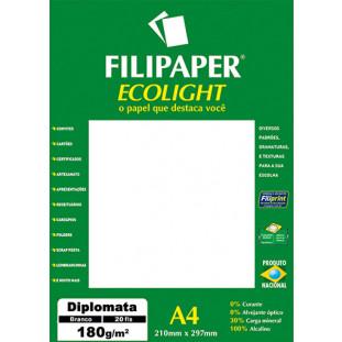 Filipaper ECOLIGHT Diplomata Opaline 180g/m² (20 folhas; branco natural) A4 FP02078