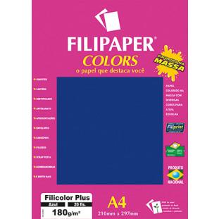 Filipaper COLORS Azul 180g/m² A4 20fls - FP02389