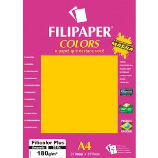 Filipaper COLORS Amarelo 180g/m² A4 20fls - FRETE GRÁTIS - FP02391