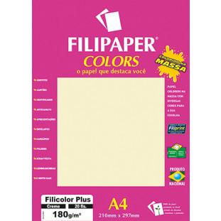 Filipaper COLORS Creme 180g/m² A4 20fls - FRETE GRÁTIS - FP02392