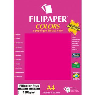 Filipaper COLORS Pink 180g/m² A4 20fls - FRETE GRÁTIS - FP02394