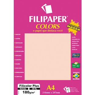 Filipaper COLORS Salmão 180g/m² A4 20fls - FRETE GRÁTIS - FP02396