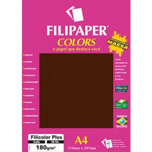 Filipaper COLORS Café 180g/m² A4 20fls - FRETE GRÁTIS - FP02398
