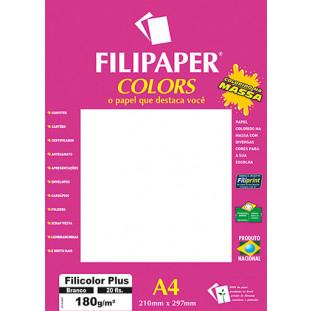 Filipaper COLORS Branco 180g/m² A4 20fls - FRETE GRÁTIS - FP02399