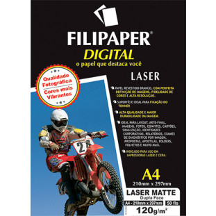 Filipaper Laser Matte Pro D/F 120g/m² (A4 - 50 fls.) - FP02500