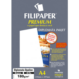 Filipaper Diplomata Premium 180g/m² (20 folhas; branco) A4 - FP02505