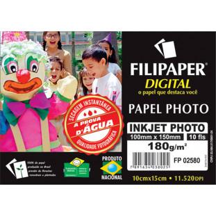 Filipaper Inkjet Photo Pro 240g/m² (10cm x 15cm) 10 fls. - FRETE GRÁTIS - FP02580