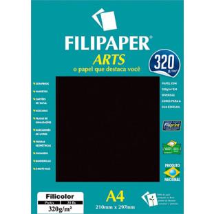 FIlipaper ARTS 320 g/m² (30 folhas; Preto) A4 - FRETE GRÁTIS - FP02590