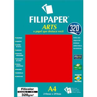 FIlipaper ARTS 320 g/m² (30 folhas; Vermelho) A4 - FP02591