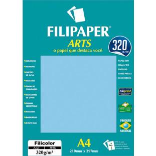 FIlipaper ARTS 320 g/m² (30 folhas; Azul Claro) A4 - FRETE GRÁTIS - FP02592