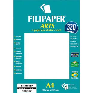 FIlipaper ARTS 320 g/m² (30 folhas; Diplomata Branco) A4 - FRETE GRÁTIS - FP02594
