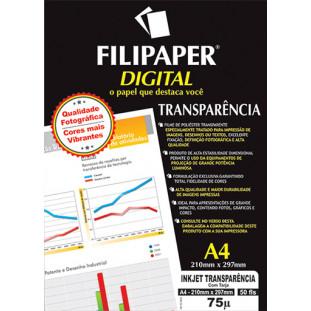 Filipaper InkJet Transparência 1.440dpi (50 folhas; ) A4 - FP02603