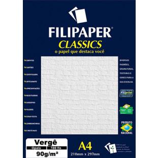 Filipaper Vergê 90g/m² (100 folhas; opala) A4 - FRETE GRÁTIS - FP03796