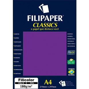 Filipaper Filicolor 180g/m² (50 folhas; lilás) A4 - FRETE GRÁTIS - FP03805