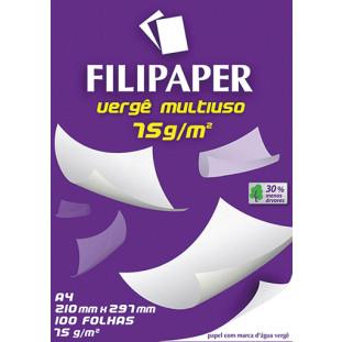 Filipaper Vergê Multiuso 75g/m² (100 folhas; branco) A4 - FP03818