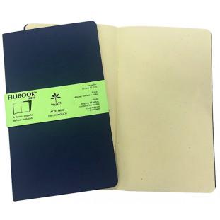 Filibook Note Azul Marinho 80gm² miolo Marfim (M) 21cm X 12,5 cm - FP00701