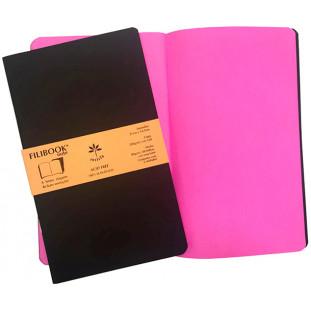 Filibook Note Café 75gm² miolo Rosa LUMI (M) 21cm X 12,5 cm - FRETE GRÁTIS - FP00707