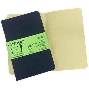 Filibook Note Azul Marinho 75gm² miolo Marfim (P) 14cm X 9cm - FRETE GRÁTIS - FP00700
