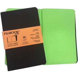 Filibook Note Café 75gm² miolo Verde LUMI (P) 14cm X 9cm - FRETE GRÁTIS - FP00708
