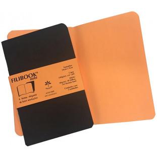 Filibook Note Café 75gm² miolo Laranja LUMI (P) 14cm X 9cm - FRETE GRÁTIS - FP00704