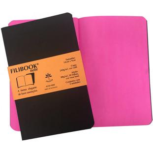 Filibook Note Café 80gm² miolo Rosa LUMI (P) 14cm X 9cm - FP00706