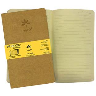 Filibook Note Planner Kraft 80gm² miolo Marfim (G) 21cm X 12,5cm - FP00749