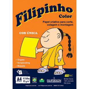 Filipinho Color / Cor Única (amarelo) A4 - FRETE GRÁTIS - FP03773