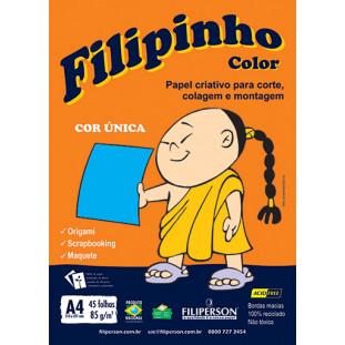 Filipinho Color / Cor Única (azul) A4 - FRETE GRÁTIS - FP03774
