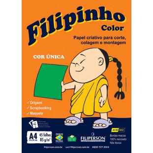 Filipinho Color / Cor Única (verde) A4 - FRETE GRÁTIS - FP03775