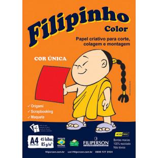 Filipinho Color / Cor Única (vermelho) A4 - FRETE GRÁTIS - FP03776