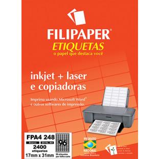 FP A4248 Filipaper Etiqueta 17X31 mm - 96 etiquetas por folha A4 25 fls - FRETE GRÁTIS - FP04450